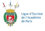 Compétition ligue d'escrime de Paris