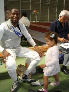 Sur la photos : Eddy et sa fille Ebony, aux championnats de France N3 (2008)