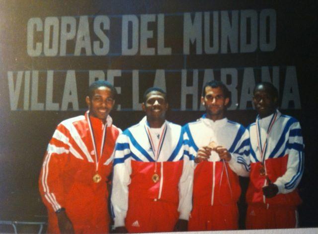 Champion par équipes coupe du mode Ville de L'havane ( Cuba) 1997 - De gauche à droite : Reinier Suares, Hermeregildo Garcias, Ignacio Gonzales, Eddy Patterson
