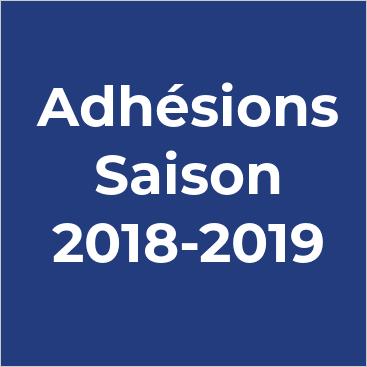 Inscriptions saison 2018-2019 : C'est parti !