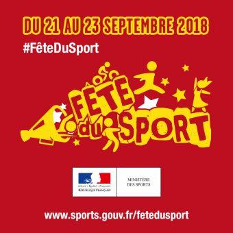 Fête du Sport  – Dimanche 23 septembre 2018