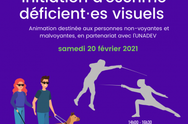 "Evènement ""DV"" : initiation à l'escrime au club !"