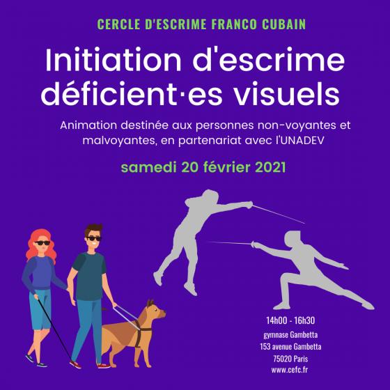 """Evènement """"DV"""" : initiation à l'escrime au club !"""